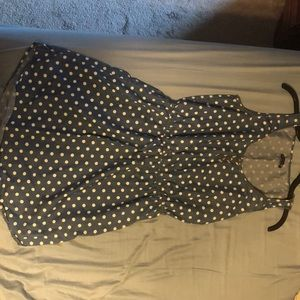 Gap size M polka dot denim dress